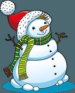 Christmas Snowman кліпарт