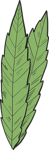 Marijuana leaves clipart