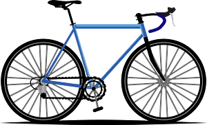 Road bicycle clipart