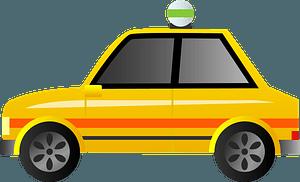 Taxi car clipart