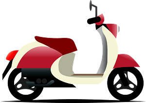 Motor scooter clipart