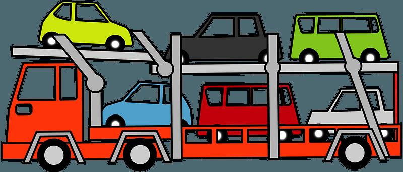 Car carrier trailer clipart