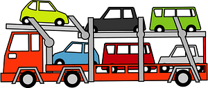 Car carrier trailer clipart