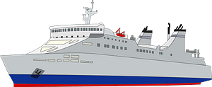 Ferry ship clipart