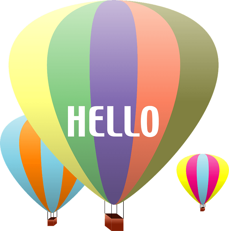 Hot Air Balloon Clipart Kostenloses Stock Bild - Public Domain Pictures
