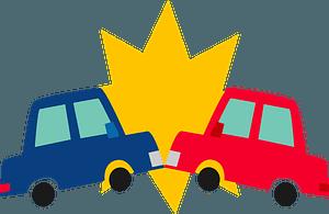 Traffic collision clipart