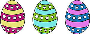 Striped Easter eggs clipart