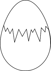 Easter egg (white whith fracture) clipart