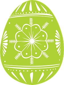 Easter egg green clipart