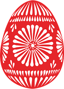 Red Easter egg clipart