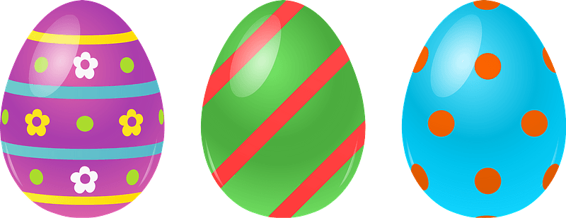 easter eggs clipart md