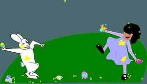 Easter egg fight clipart