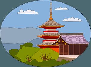 Kiyomizu dera clipart