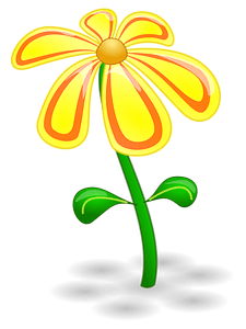 Yellow Flower on the Stem clipart