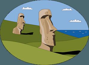 Moai clipart