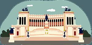 Piazza Venezia clipart