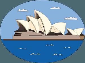 Sydney Opera House clipart