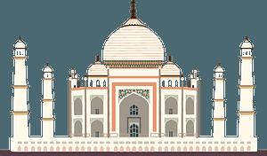 Taj Mahal clipart