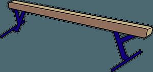 Balance beam in gymnastics clipart