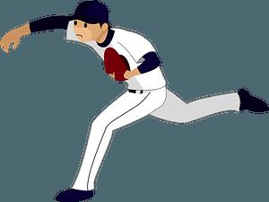 Baseball sports pitcher clipart