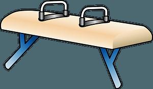 Pommel horse gymnastics clipart