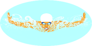 Swimming competition clipart