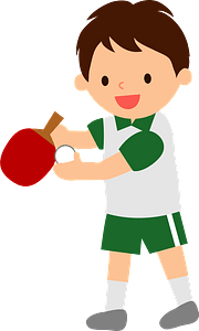 Boy is playing table tennis clipart