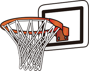 Basketball Backboard, Rim, and Net clipart