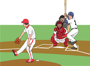 Baseball - Pitcher Pitching to the Right-handed Batter clipart