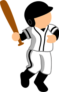 Baseball batter clipart