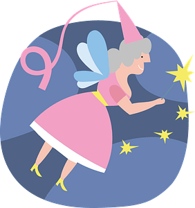 Fairy doing magic clipart