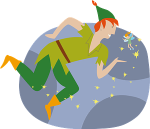 Flying Peter Pan clipart