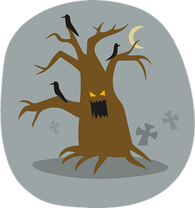 Haunted tree clipart