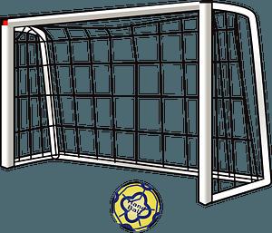 Handball Ball and Net clipart