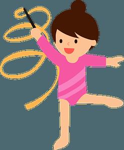 Rhythmic gymnastics with a ribbon clipart