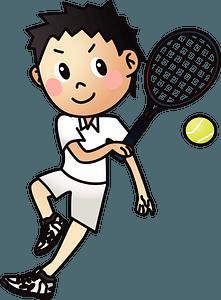 Tennis player clipart