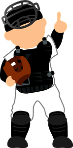 Baseball catcher clipart