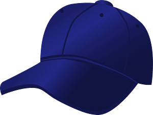 Blue Baseball Cap clipart