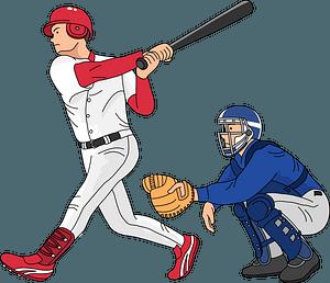 Baseball players - batter and catcher clipart