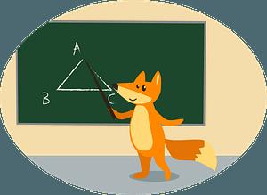 Animals at school - fox clipart
