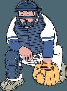 Baseball catcher clipart