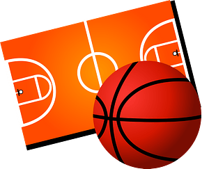 Basketball and Court clipart