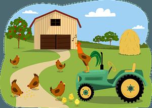 Animals on the farm - chicken clipart
