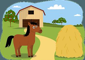 Animals on the farm - horse кліпарт
