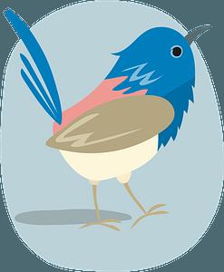 Bluebirdのクリップアート