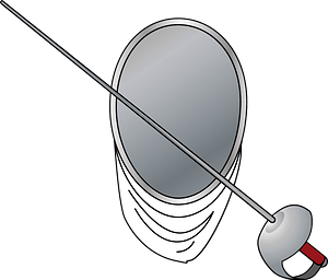 Fencing sports clipart
