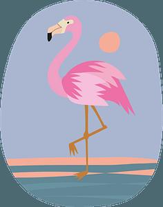Flamingoのクリップアート