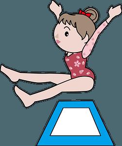 Floor artistic gymnastics clipart