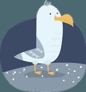 Seagullのクリップアート
