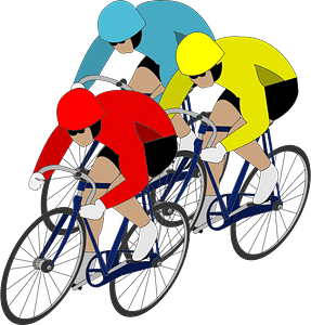 Track cycling clipart